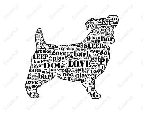 PERSONALIZED Jack Russell Terrier Dog Jack Russell Word Art 8 X 10 Print Jack Russell Dog Pet Gifts