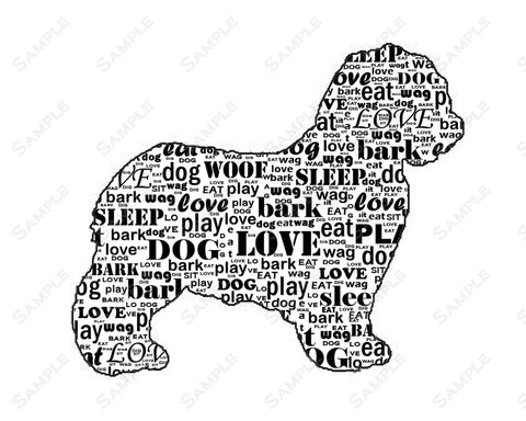 PERSONALIZED Sheepdog Silhouette Sheepdog Word Art 8 X 10 Print Sheepdog Dog Pet Gifts