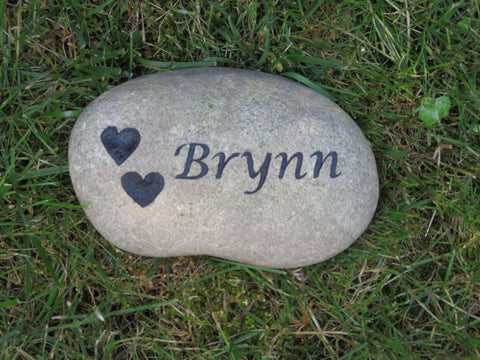 Pet Memorial Garden Stone Grave Marker 6-7 Inches Memorial Gravestone