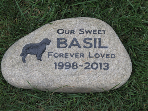 Golden Retriever Memorials Stone Golden Retriever Gravestone Garden Memorials 9-10 Inch Memorial Grave Marker Headstone Tombstone
