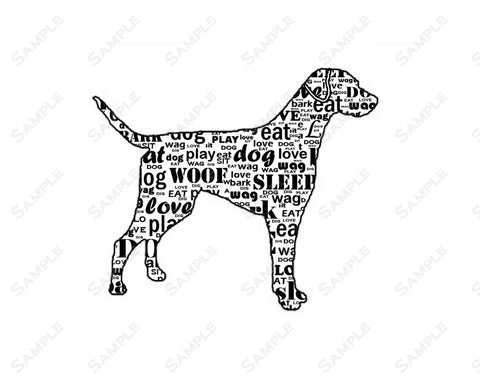 Labrador Retriever Silhouette Wordart - Black, Golden, Chocolate Labrador Dog Gift Print 8 X 10 Labrador Retriever Dog Gifts