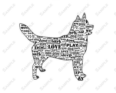 PERSONALIZED Siberian Husky Dog Silhouette Siberian Husky Word Art Print 8 X 10 Siberian Husky Dog Pet Gifts