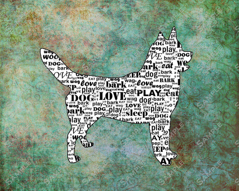 Siberian Husky Dog Husky Word Art 8 X 10 Print Husky Dog Pet Gifts