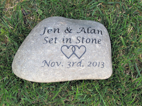 PERSONALIZED Oathing Stone Oath Wedding Stone 11-12 Inch Wedding Gift Stone - Pet Memorial Stones, Personalized Pet Stone Memorial Grave Marker, Dog Memorial, Cat Memorials, Pet Gravestone Markers, Headstone