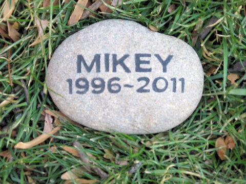 Pet Memorial Stone Grave Marker Headstone 5-6 Inches Memorial Burial Stone