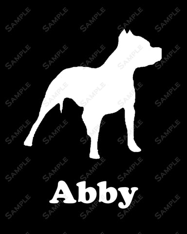 CUSTOM Pitbull Dog Silhouette Pitbull Art 8 X 10 Print Pitbull Dog Pet Gifts
