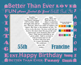 25th, 35th, 45th. 55th, 65th, 75th, 85th, 95th or Any Birthday Gift Birthday Poem Heart Print 8 X 10 Birthday Gifts