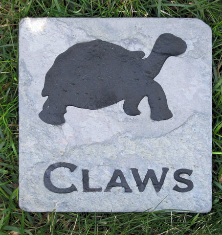 Pet Box Turtle Memorial Stone Grave Stone Memorial 6 x 6 Inch Memorial Burial Stone Marker - Pet Memorial Stones, Personalized Pet Stone Memorial Grave Marker, Dog Memorial, Cat Memorials, Pet Gravestone Markers, Headstone