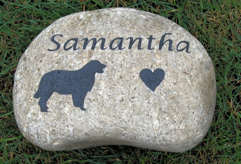 Golden Retriever Memorial Stone Golden Retriever Memory Stone Memorial Burial Headstone Grave Stone Marker 8 - 9 Inch