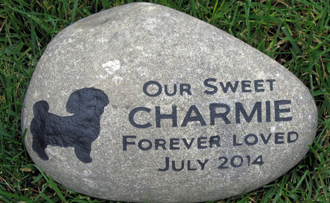 PERSONALIZED Pet Memorials Stone Maltese Grave Marker 10-11 Inch Memorial Burial Cemetery Grave Marker Headstone & Other Breeds - Pet Memorial Stones, Personalized Pet Stone Memorial Grave Marker, Dog Memorial, Cat Memorials, Pet Gravestone Markers, Headstone