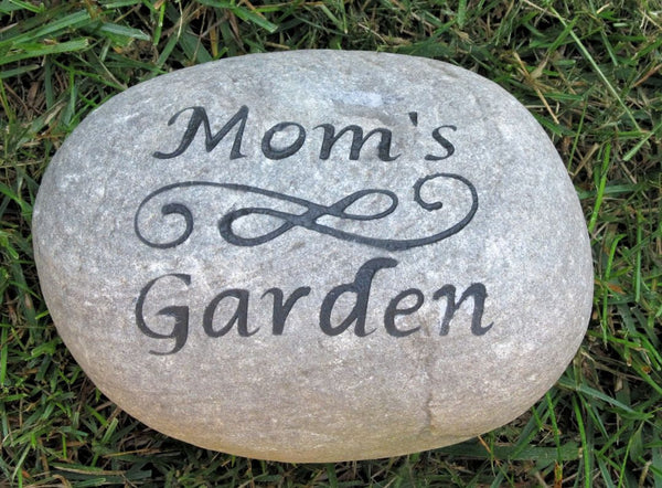 personalized garden stone for mom dad 7 8 inch garden stone perfect. Black Bedroom Furniture Sets. Home Design Ideas