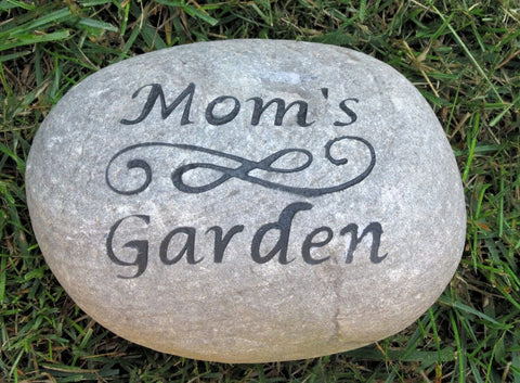 Garden Stone for Mom Dad 7-8 Inch Garden Stone - Perfect for Mother's Day or Father's Day Gifts