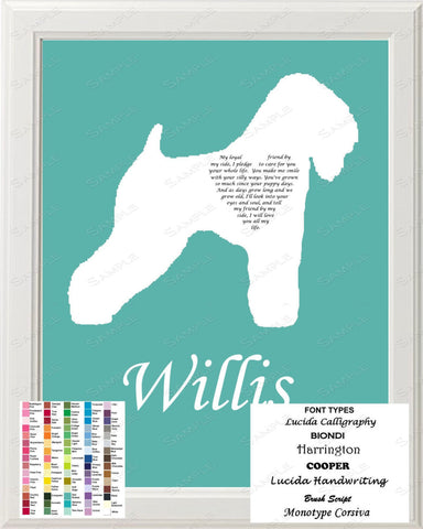 Wheaten Terrier Love Poem Art 8 X 10 Print. Wheaten Terrier Dog Gift Print