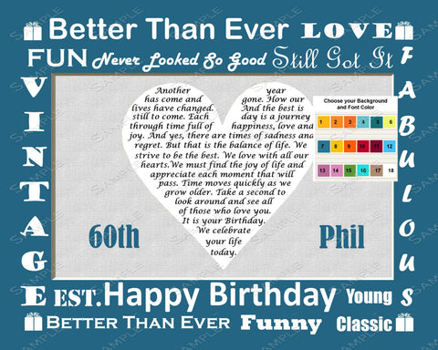 Personalized 50th Birthday Gift Poem Heart 50th Birthday Gift Ideas 8 X 10 Print Fifty Birthday Gifts