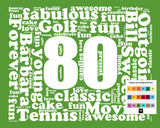 80th Birthday Gift Word Art - 80th Birthday - Eighty Birthday 8 X 10 Print - Unique Fun Cute Digital Download .JPG