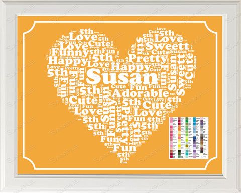 5th Birthday Word Art Birthday Print - 5th Birthday Gift Personalized 8 x 10 Five Year Old Birthday Gift Ideas Digital Donwload .JPG -DesignbyWord.Com