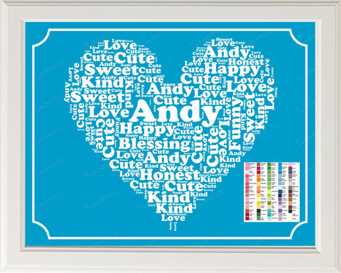 Baby Boy Nursery Decor, Word Art Baby Boy Nursery Print - Baby Nursery Gift, Personalized Art 8 x 10 Print, Baby Nursery Decor Gift Ideas -DesignbyWord.Com