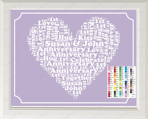 PERSONALIZED 25th 35th 45th 55th Anniversary Gift Word Art Print - Anniversary Gift Personalized 8 x 10 Anniversary Gift Ideas