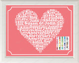 15th Anniversary Gift Word Art Print - 15th Anniversary Gift Personalized 8 x 10 Fifteenth Anniversary Gift Ideas