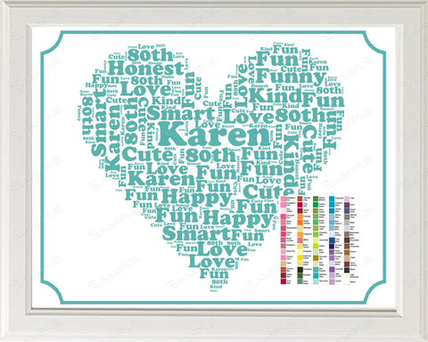 Personalized 80th Birthday Word Art Birthday Print - 80th Birthday Gift 8 x 10 80 Birthday Gift Ideas Digital Download .JPG