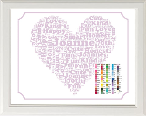 Personalized 70th Birthday Word Art Birthday Print - 70th Birthday Gift 8 x 10 70 Birthday Gift Ideas DIGITAL DOWNLOAD .JPG