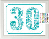30th Birthday Word Art Birthday Print - 30th Birthday Gift 8 x 10 Thirty Birthday Print Birthday Ideas Digital Download .JPG