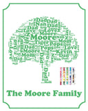 Personalized Family Tree 8 x 10 Print Family Tree Word Art - Family Tree Gift - Family Name Tree Gift for Mom or Dad Digital Download .JPG