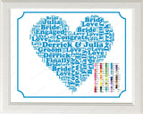 Engagement Gift Word Art Gift for Him - Engagement Gift Ideas - Just Engagement Gift - Engagement Gifts 8 x 10 Print