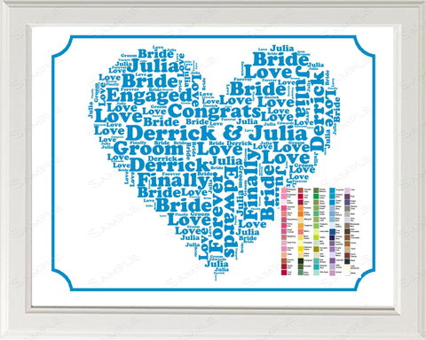 PERSONALIZED Engagement Gift Word Art Gift for Him - Engagement Gift Ideas - Just Engagement Gift - Engagement Gifts 8 x 10 Print
