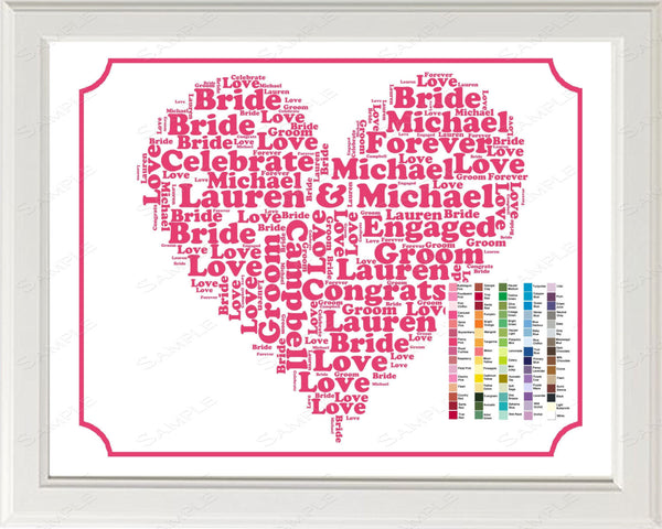Personalized Engagement Gift Ideas Word Art Gift For Her