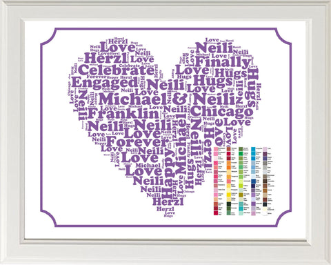 PERSONALIZED Engagement Gift Word Art - Engagement Gift - Engagement Gift Ideas - Just Engaged Gifts 8 x 10 Print