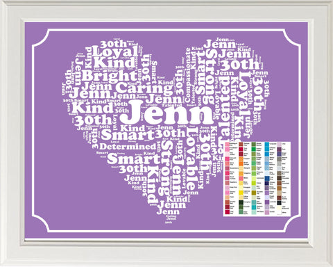 30th Birthday Gift Word Art. Thirty 8 x 10 Print