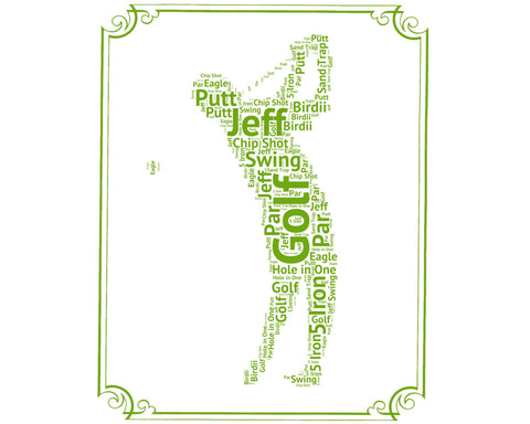 PERSONALIZED Golfing Gift - Golfing Gift Word Art - Golf Gift Ideas - Golfer Gifts 8 x 10 Print