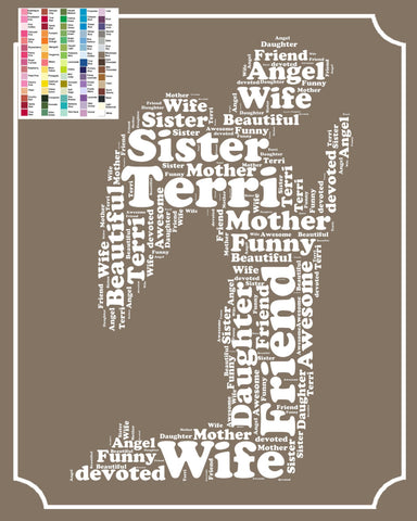 Guardian Angel Gift - Personalized Guardian Angel Word Art - Guardian Angel 10 x 8 Print