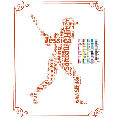 Softball Gift -  Softball Gift Word Art - Softball Player Gift Ideas - Softball Gifts 8 x 10 Print