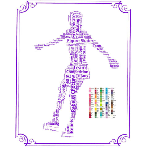 PERSONALIZED Figure Skater Gift -  Figure Skating Gift Word Art - Figure Skater Gift Ideas - Figure Skating Gifts 8 x 10 Print