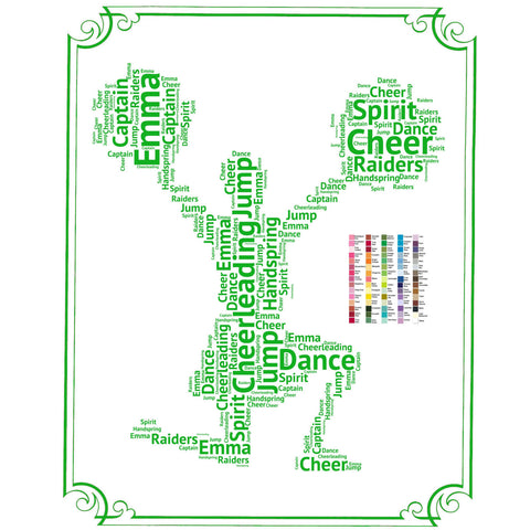 Cheerleader Gift - Cheerleader Gift Word Art - Cheerleader Gift Ideas - Cheerleading Gifts 8 x 10 Print Digital Download .JPG