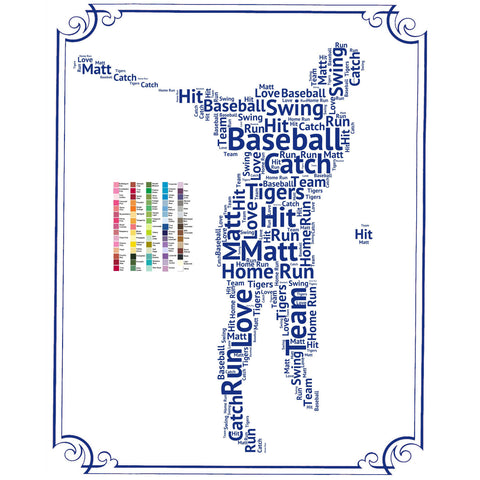 PERSONALIZED Baseball Gift - Baseball Gift Word Art - Baseball Player Gift Ideas - Baseball Gifts 8 x 10 Print