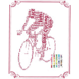 PERSONALIZED Cycling Gift - Cycling Gift Word Art - Cycling Gift Ideas - Cycling Gifts 8 x 10 Print Digital Download .JPG