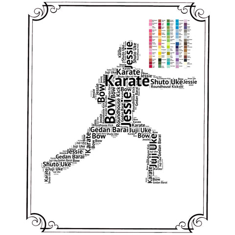 Karate Gift Personalized Karate Gift Karate Gift Ideas Karate Gifts Word Art 8 x 10 Print