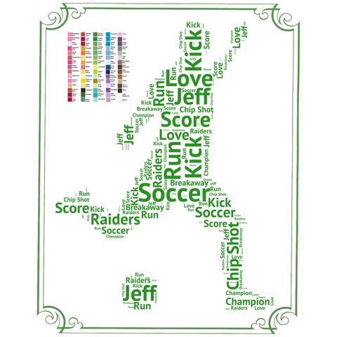 PERSONALIZED Soccer Gift -  Soccer Gift Word Art - Soccer Gift Ideas - Soccer Gifts 8 x 10 Print Digital Download .JPG
