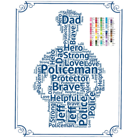 PERSONALIZED Policeman Gift - Policeman Gift Word Art - Policemen Gift Ideas - Police Gifts 8 x 10 Print
