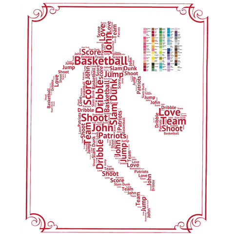 PERSONALIZED Basketball Gift Basketball Gift Basketball Gift Ideas Basketball Player Gifts Word Art 8 x 10 Print