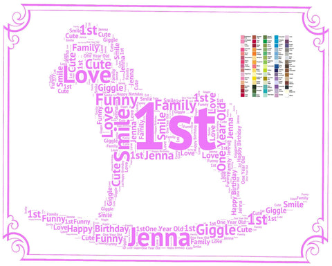 Personalized 1st Birthday Gift Idea For Baby Wor
