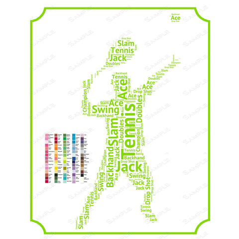 sc 1 st  Birthday Gifts | Anniversary Gifts & PERSONALIZED Tennis Gift - Tennis Gift Word Art -Tennis Player Gift Id