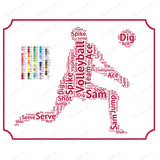 Volleyball Gift Volleyball Gift Word Art Volleyball Player Gift Ideas Volleyball Gifts 8 x 10 Print