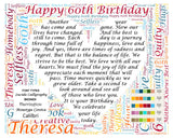 60 Birthday Gifts. 8 X 10 Print Sixty Birthday Gifts