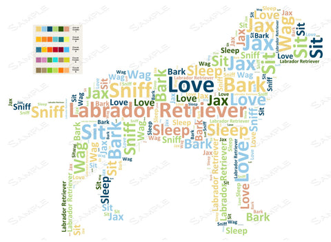 PERSONALIZED Labrador Retriever Word Art Labrador Retriever Dog 8 x 10 Print Labrador Retriever Pet Gifts Many More Breed Available