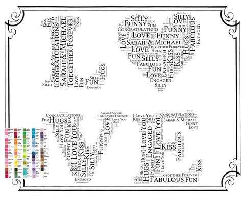 Engagement Gift - Engagement Gift Love Word Art - Engagement Gift Ideas - Just Engaged Gifts 8 x 10 Print Digital Download .JPG