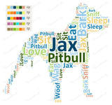 PERSONALIZED Pitbull Word Art Pitbull Dog 8 x 10 Print Pitbull Pet Gifts Many More Breed Available